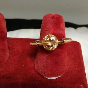 Rare vintage 14k & 925 with citron ladies ring